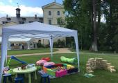 dětský koutek na svatbě Chateau Mcely
