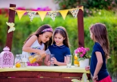 dětská oslava stánek