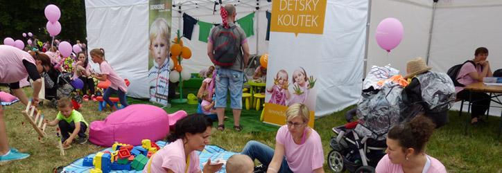Mobilní dětské koutky na outdoorových akcích