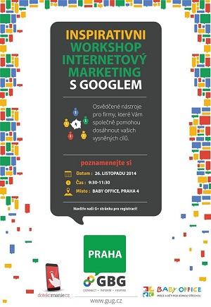 Interaktivní workshop Internetový marketing s Googlem