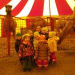 Děti z miniškolky šly do cirkusu.
