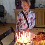 Oslavenkyně a dort