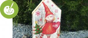 Vánoční tvořivé balíčky - skřítkovské domečky