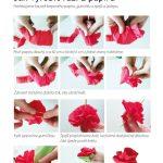 Výroba růže z papíru