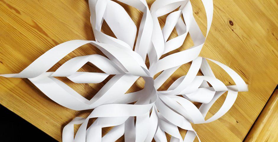 Betlémská hvězda z papíru
