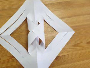 Výroba vánoční hvězdy - krok 6