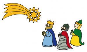 Tři králové a betlémská hvězda