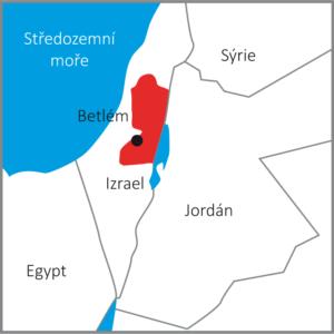 Mapa Betléma v době narození Ježíše