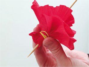 Růže z papíru - postup - 9
