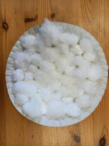Tvoření s dětmi: ovečka - talíř s vatou