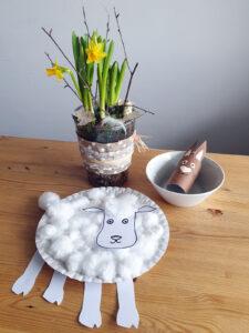 Tvoření s dětmi: ovečka - hotový výrobek
