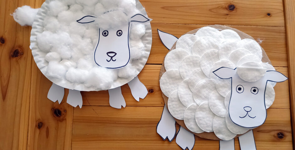 Tvoření s dětmi: ovečka
